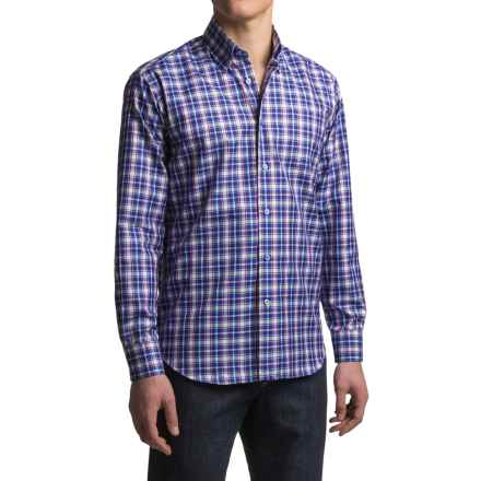 Robert Talbott Anderson Sport Shirt - Cotton, Long Sleeve (For Men) in Pacific - Closeouts