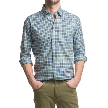 Robert Talbott Anderson Sport Shirt - Long Sleeve (For Men) in Blue/Green - Closeouts