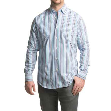 Robert Talbott Anderson Striped Sport Shirt - Cotton, Classic Fit, Long Sleeve (For Men) in Atlantic - Closeouts