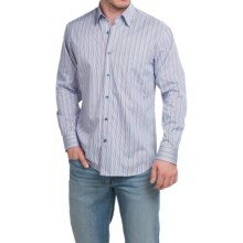 Robert Talbott Candy Stripe Sport Shirt - Long Sleeve (For Men) in Red/White/Blue - Closeouts
