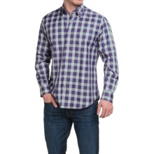 Robert Talbott Check Cotton Sport Shirt - Hidden Button-Down Collar, Long Sleeve (For Men) in Grape/Pine/Gold/Charcoal - Closeouts