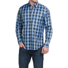 Robert Talbott Check Cotton Sport Shirt - Hidden Button-Down Collar, Long Sleeve (For Men) in Turquoise/Blue/Green/Navy - Closeouts