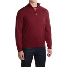Robert Talbott Cooper Merino Wool Sweater - Zip Neck (For Men) in Claret - Closeouts