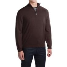 Robert Talbott Cooper Merino Wool Sweater - Zip Neck (For Men) in Espresso - Closeouts
