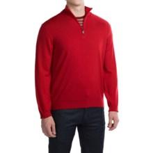 Robert Talbott Cooper Merino Wool Sweater - Zip Neck (For Men) in Fire - Closeouts