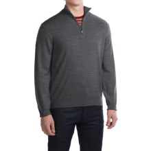Robert Talbott Cooper Merino Wool Sweater - Zip Neck (For Men) in Graphite - Closeouts