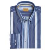 Robert Talbott Cotton Stripe Sport Shirt - Long Sleeve (For Men)