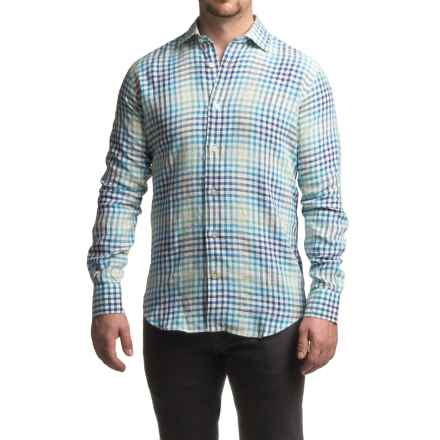 Robert Talbott Crespi III Check Sport Shirt - Linen, Trim Fit, Long Sleeve (For Men) in Blue Multi - Closeouts