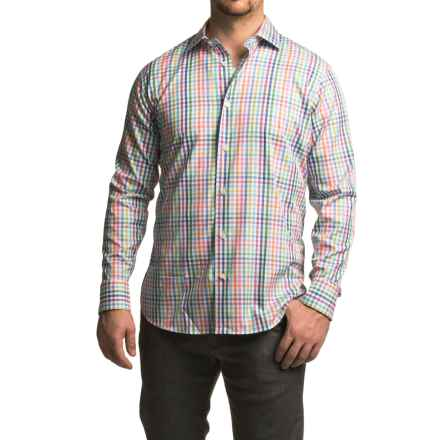 Robert Talbott Crespi III Multi-Check Sport Shirt - Cotton, Trim Fit, Long Sleeve (For Men) in Citrus - Closeouts