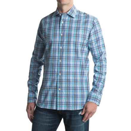Robert Talbott Crespi III Plaid Sport Shirt - Cotton, Long Sleeve (For Men) in Atlantic - Closeouts