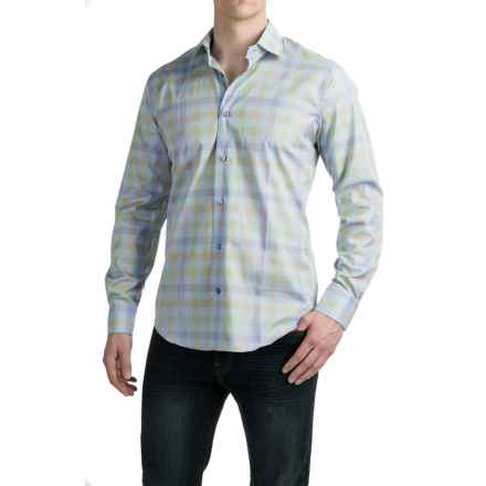 Robert Talbott Crespi III Sport Shirt - Cotton, Trim Fit, Long Sleeve (For Men) in Celeste - Closeouts