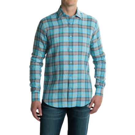 Robert Talbott Crespi III Sport Shirt - Linen, Long Sleeve (For Men) in Lagoon - Closeouts