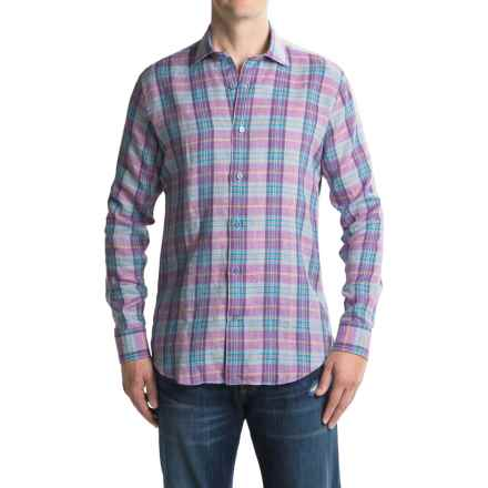 Robert Talbott Crespi III Sport Shirt - Linen, Long Sleeve (For Men) in Plum - Closeouts