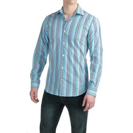 Robert Talbott Crespi III Sport Shirt - Trim Fit, Cotton, Long Sleeve (For Men) in Atlantic - Closeouts