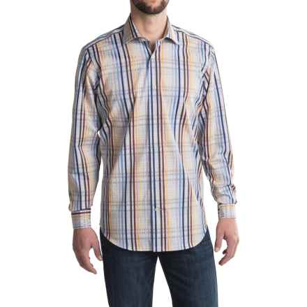 Robert Talbott Crespi III Thick-n-Thin Check Sport Shirt - Cotton, Long Sleeve (For Men) in Iris - Closeouts