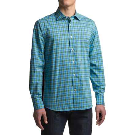 Robert Talbott Crespi III Trim Fit Sport Shirt - Cotton, Mitered Cuff, Long Sleeve (For Men) in Turquoise - Closeouts