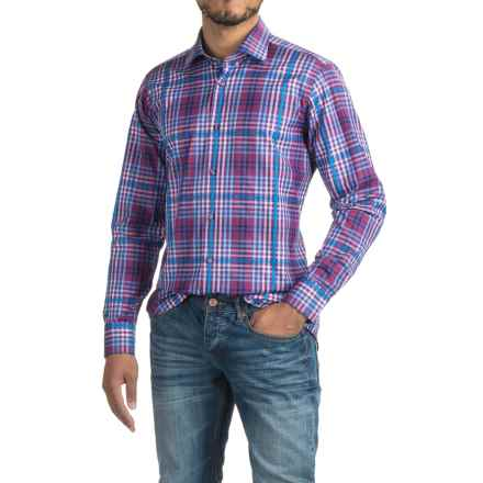 Robert Talbott Crespi IV Check Sport Shirt - Trim Fit, Cotton, Long Sleeve (For Men) in Purple Multi - Closeouts