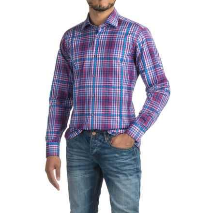 Robert Talbott Crespi IV Check Sport Shirt - Trim Fit, Cotton, Long Sleeve (For Men) in Purple Multi - Closeouts
