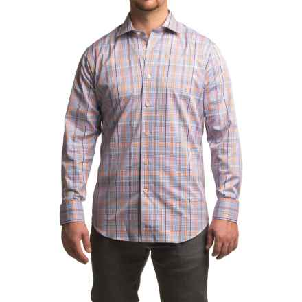 Robert Talbott Crespi IV Micro-Check Sport Shirt - Trim Fit, Long Sleeve (For Men) in Lilac - Closeouts