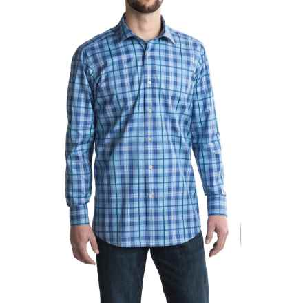 Robert Talbott Crespi IV Plaid Sport Shirt - Trim Fit, Long Sleeve (For Men) in Atlantic - Closeouts