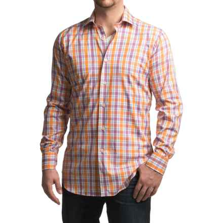 Robert Talbott Crespi IV Trim Fit Plaid Sport Shirt - Long Sleeve (For Men) in Orange - Closeouts