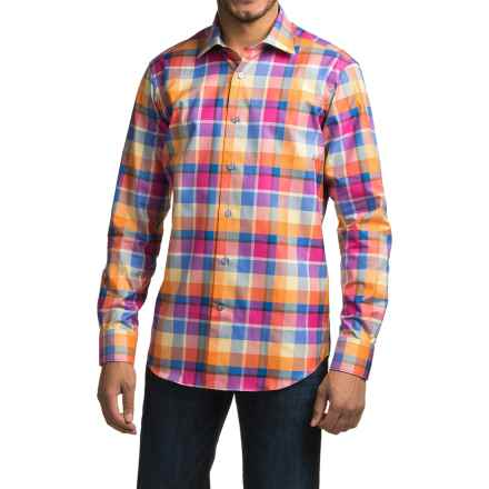 Robert Talbott Crespi IV Trim Fit Plaid Sport Shirt - Long Sleeve (For Men) in Sunset - Closeouts