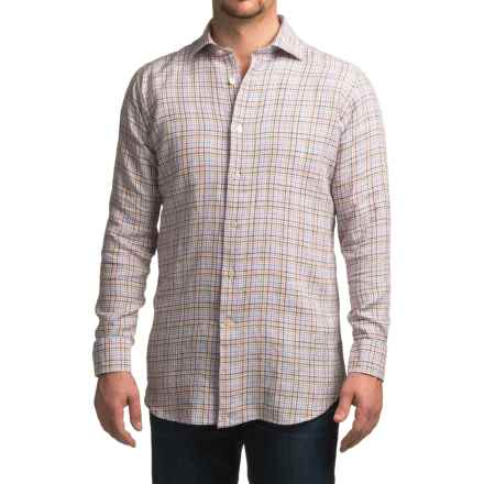 Robert Talbott Crespi IV Trim Fit Sport Shirt - Linen, Long Sleeve (For Men) in Orange - Closeouts