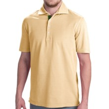 Robert Talbott Fancy Vintage Wash Polo Shirt - Short Sleeve (For Men) in Lemon - Closeouts