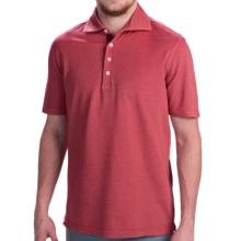 Robert Talbott Fancy Vintage Wash Polo Shirt - Short Sleeve (For Men) in Red - Closeouts