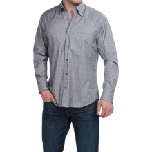 Robert Talbott Glen Plaid Sport Shirt - Long Sleeve (For Men) in Blue/Brown/Navy/Putty - Closeouts
