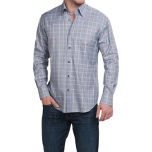 Robert Talbott Glen Plaid Sport Shirt - Long Sleeve (For Men) in Navy/Blue/Brown - Closeouts