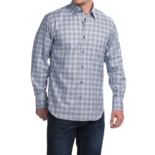 Robert Talbott Glen Plaid Sport Shirt - Long Sleeve (For Men) in Navy/Lilac - Closeouts