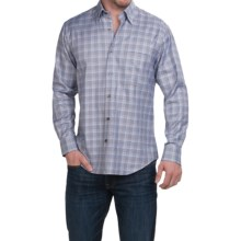 Robert Talbott Glen Plaid Sport Shirt - Long Sleeve (For Men) in Navy/Sky/Blue/Tan - Closeouts