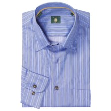 Robert Talbott Hidden Button-Down Sport Shirt - Long Sleeve (For Men) in Blue Stripe - Closeouts