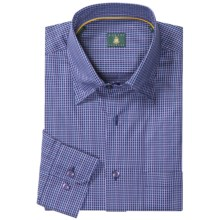 Robert Talbott Hidden Button-Down Sport Shirt - Long Sleeve (For Men) in Navy Check - Closeouts