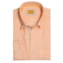 Robert Talbott Linen Sport Shirt - Long Sleeve (For Men) in Peach - Closeouts