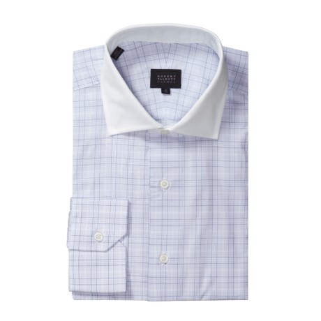 Robert Talbott Micro Windowpane Dress Shirt - Long Sleeve (For Men) in Blue/White