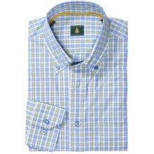 Robert Talbott Mini Check Sport Shirt - Button-Down Collar, Mitered Cuffs (For Men) in Blue/Lime/White - Closeouts