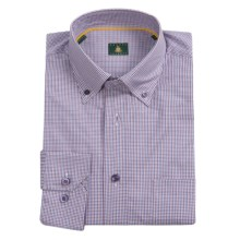 Robert Talbott Mini Check Sport Shirt - Button-Down Collar, Mitered Cuffs (For Men) in Blue/Purple/Orange - Closeouts