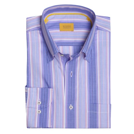 Robert Talbott Multi-Stripe Sport Shirt - Long Sleeve (For Men) in Blue/Lilac