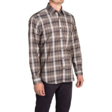 Robert Talbott Plaid Sport Shirt - Classic Fit, Long Sleeve (For Men) in Brown/Navy/Putty - Closeouts