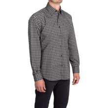 Robert Talbott Plaid Sport Shirt - Classic Fit, Long Sleeve (For Men) in Navy/Brown/Grey - Closeouts