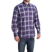 Robert Talbott Plaid Sport Shirt - Classic Fit, Long Sleeve (For Men) in Purple/Navy/Berry/Green - Closeouts