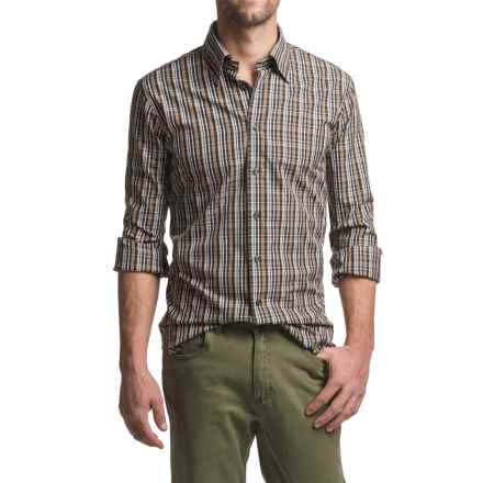 Robert Talbott RT Trim Fit Sport Shirt - Long Sleeve (For Men) in Brown Plaid - Closeouts