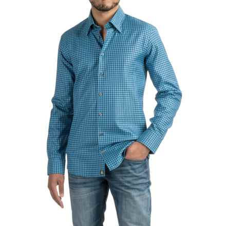 Robert Talbott RT Trim Fit Sport Shirt - Long Sleeve (For Men) in Turquoise - Closeouts