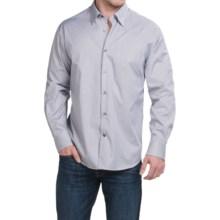 Robert Talbott Shadow Stripe Sport Shirt - Long Sleeve (For Men) in Blue/Tan/Navy - Closeouts