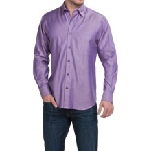 Robert Talbott Solid Cotton Sport Shirt - Long Sleeve (For Men) in Pink/Purple - Closeouts
