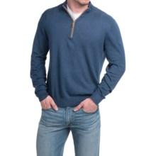 Robert Talbott Solid Zip Neck Sweater (For Men) in Navy - Closeouts