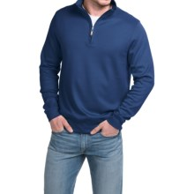Robert Talbott Spyglass Sweater - Pima Cotton, Zip Neck, Long Sleeve (For Men) in Regatta - Closeouts