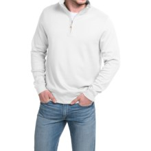 Robert Talbott Spyglass Sweater - Pima Cotton, Zip Neck, Long Sleeve (For Men) in White - Closeouts